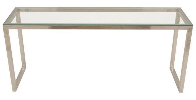 Aparador de aço inox com vidro